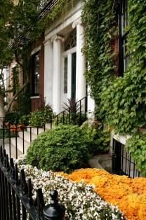 Boston doorway in fall