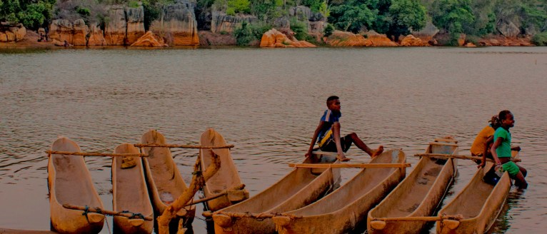 Dugout 'pirogues' used at the River Manambolo, Madagascar - courtesy Didier B. Ramilison