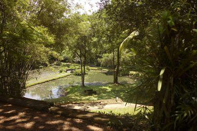 Sri Lanka, Bentota - Geoffrey Bawa's house and garden 'Lunuganga' Photo Labeet