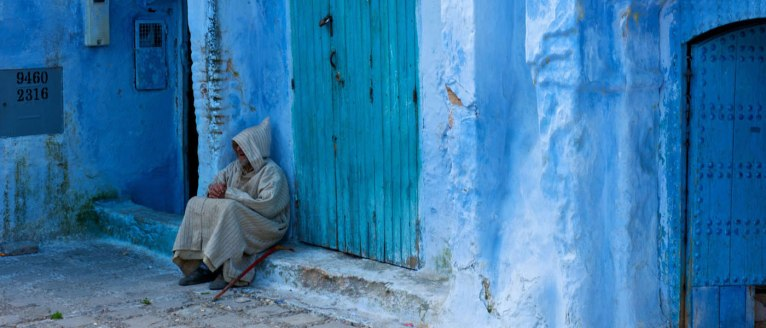 Street Corner, Chefchaouen, Morocco