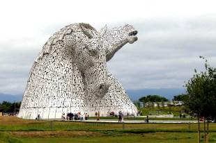 The Kelpies horse head sculptures by Andy Scott, The Helix park, Falkirk, Scotland