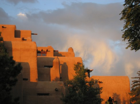 Adobe in Santa Fe at the Plaza Hotel Inn and Spa at Loretto. From wikimedia commons