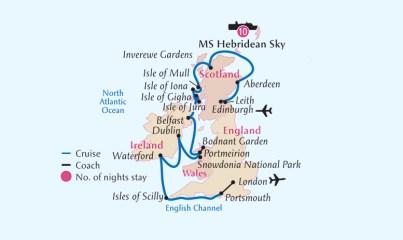 Botanica British Isles, Castles Gardens, History and Birdlife Cruise 2017