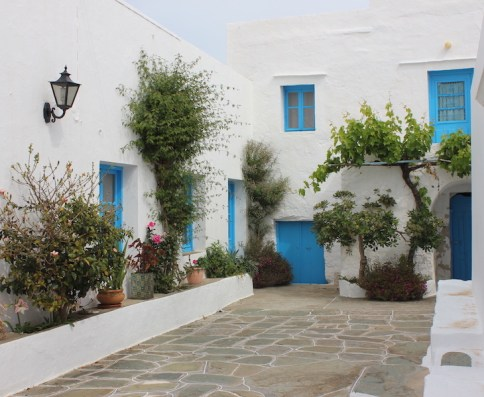 Traditional blue and white Greek home