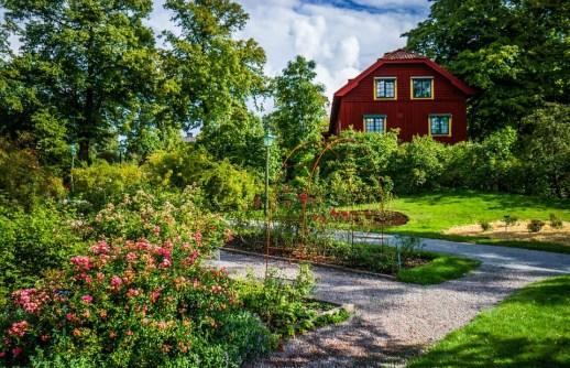 Farmhouse and garden in Skansen Open Air Museum, Djurgården