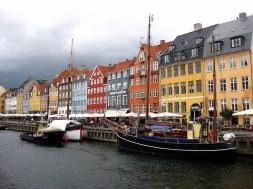 Nyhavn district in Copenhagen, Denmark