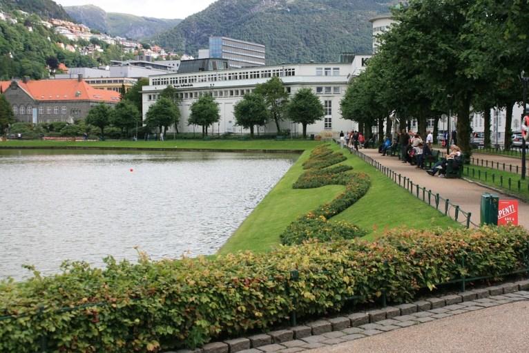 Town center of Bergen, Norway