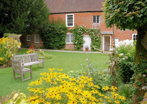 Garden at Jane Austen House Museum, Chawton © Copyright Pierre Terre and licensed for reuse under this Creative Commons Licence