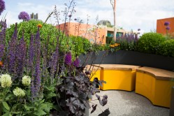 The Sir Simon Milton Foundation Urban Connections Garden. Designed by Lee Bestall. Sponsored by: Victoria Business Improvement District. RHS Chelsea Flower Show 2016.