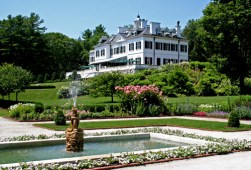 The Mount, home of Edith Wharton, from the Flower Garden. Photo David Dashiell
