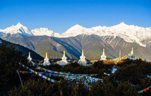 Tibetan stupas in Deqin, Yunnan