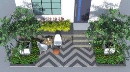 Canada Blooms 2017 show garden design 'Do Up the Doorsteps - Scandinavian Canadian' by Melanie Reloka Landscape Design