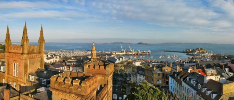 View of St Peter Port, Guernsey, Channel Islands