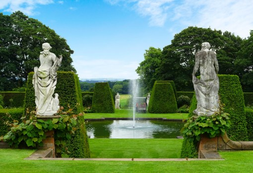 Renishaw Hall, Renishaw, Sheffield, England - photo by Richard Heathcote. The Sitwell family has lived in this ancestral home for nearly four centuries. Renishaw's beautiful Italianate garden, park and lake were created by Sir George Sitwell, father of Osbert, Edith and Sacheverall.