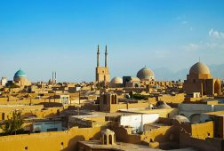 View of city of Yazd