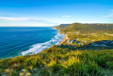Coastline of the NSW South Coast, Stanwell Tops, Royal National Park