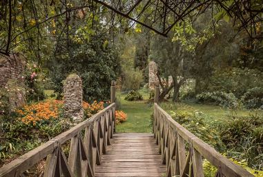 Garden of Ninfa in the province of Latina