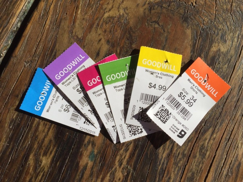 Goodwill color tags