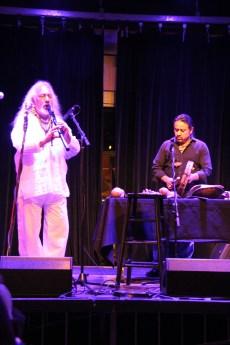 Armando on flute, Estabaliz on drums. Photo by Elizabeth Hoover