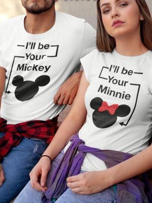 Komplet za pare Mickey Minnie, majica za pare