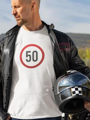 Prometni znak s senco izberi leta Majica