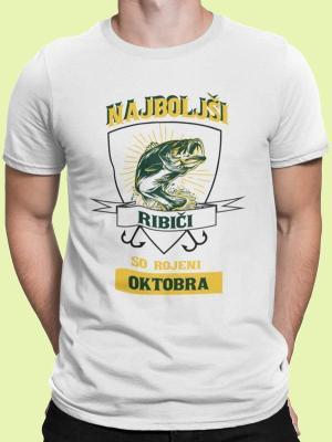 Najboljši ribiči so rojeni oktobra, majica