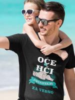 Oče in hči prijatelja za vedno, majica za očk