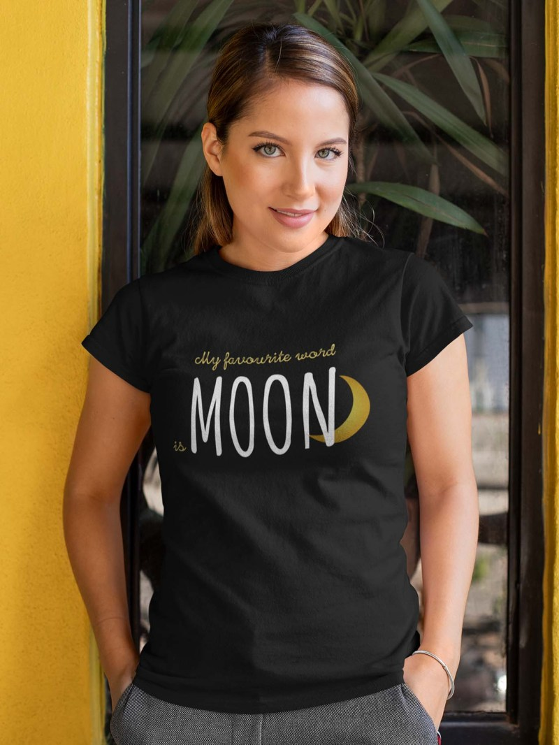 Moon my favourite word connectees, tshirt