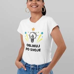 unikatno potiskana ženska majica