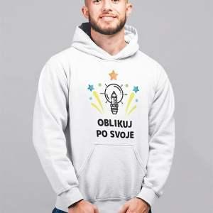 unikatno potiskan unisex pulover s kapuco