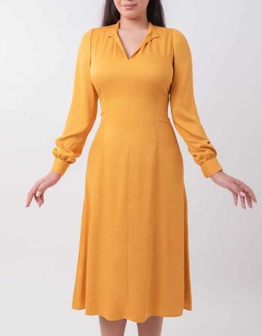 Rochie tunică mustard