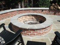 Improbable Red Brick Fire Pit | Garden Landscape