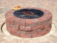 Improbable Red Brick Fire Pit | Garden Landscape