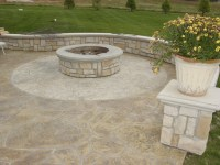 Wonderful Fire Pit On Concrete Slab | Garden Landscape