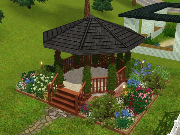 Fabulous How To Build A Gazebo Sims 3 Garden Landscape