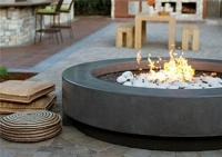 Astonishing Round Concrete Fire Pit | Garden Landscape