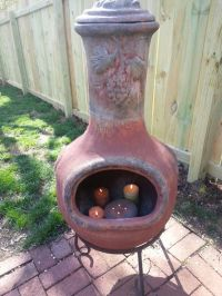 Astonishing Clay Chiminea Outdoor Fire Pit | Garden Landscape