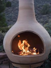 Astonishing Clay Chiminea Outdoor Fire Pit | Garden Landscape