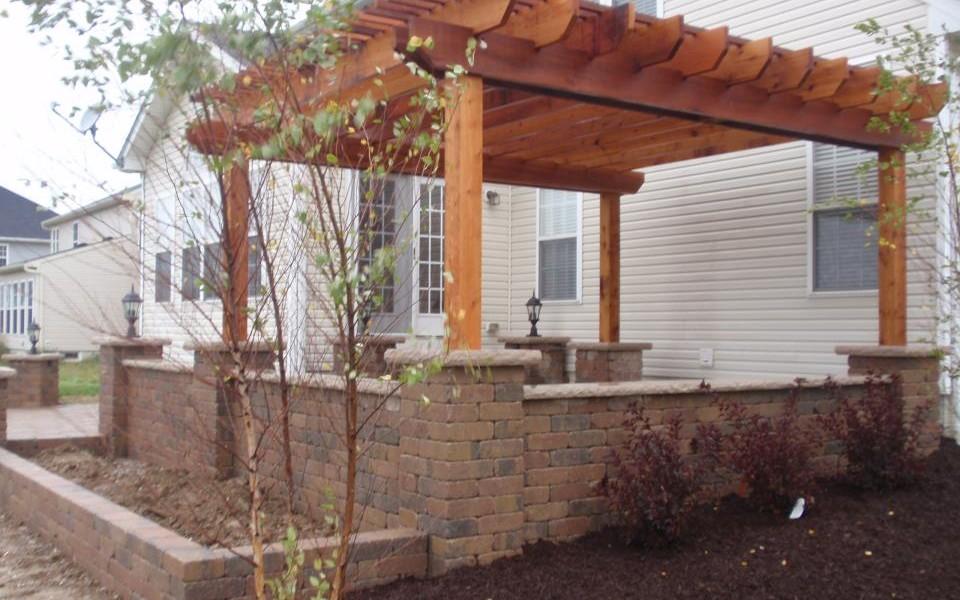 Fantastic Patio Pergola Attached To House Garden Landscape