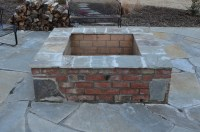 Astonishing Square Brick Fire Pit Designs | Garden Landscape