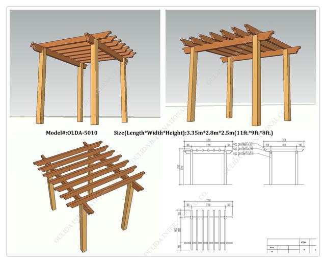 Free Standing Pergola Plans Designs