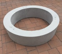 Improbable Concrete Fire Pit Ring | Garden Landscape
