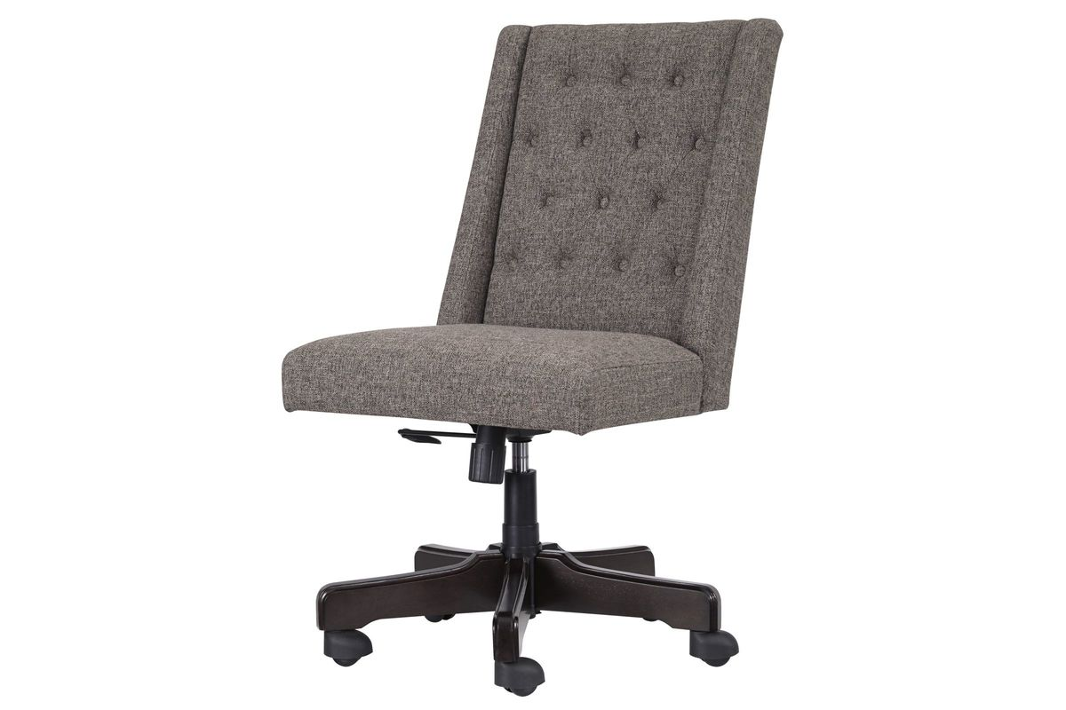 White Swivel Desk Chair Home Office Tufted Swivel Desk Chair In Graphite By Ashley