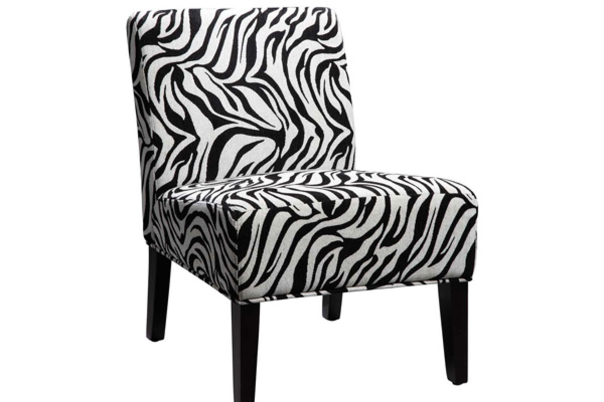 Animal Print Dining Chairs Zebra Print Slipper Chair At Gardner White
