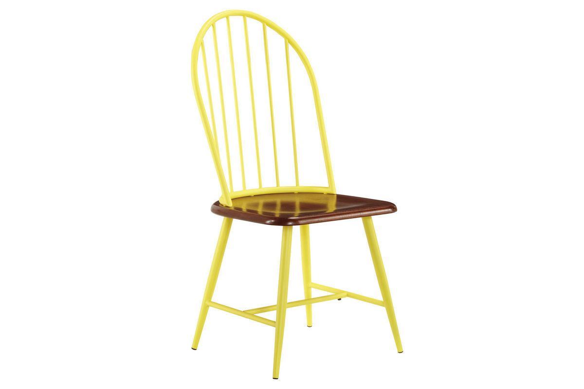 Yellow Dining Chair Shanilee Round Dining Table With Four Yellow Side Chairs
