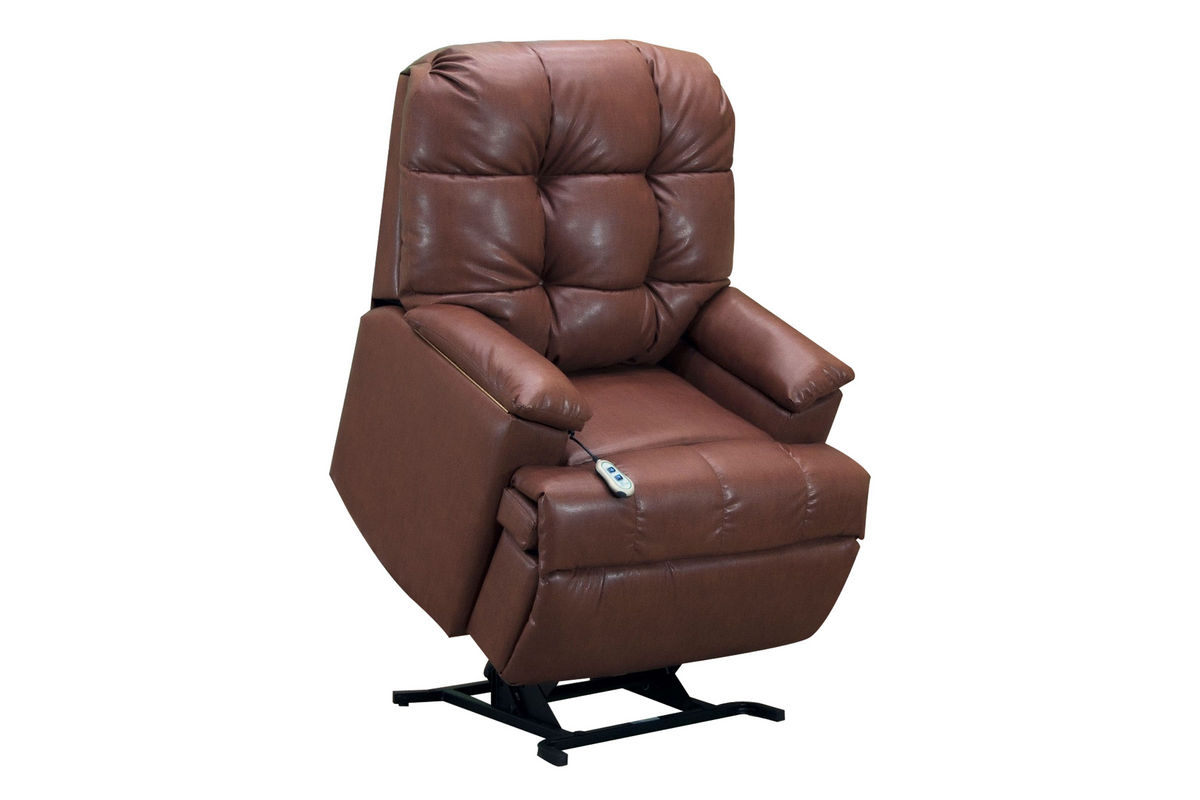 Leather Lift Chairs Medlift Brown Bonded Leather Lift Chair At Gardner White