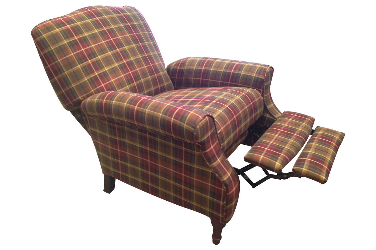 Plaid Chair Dory Plaid Accent Recliner At Gardner White