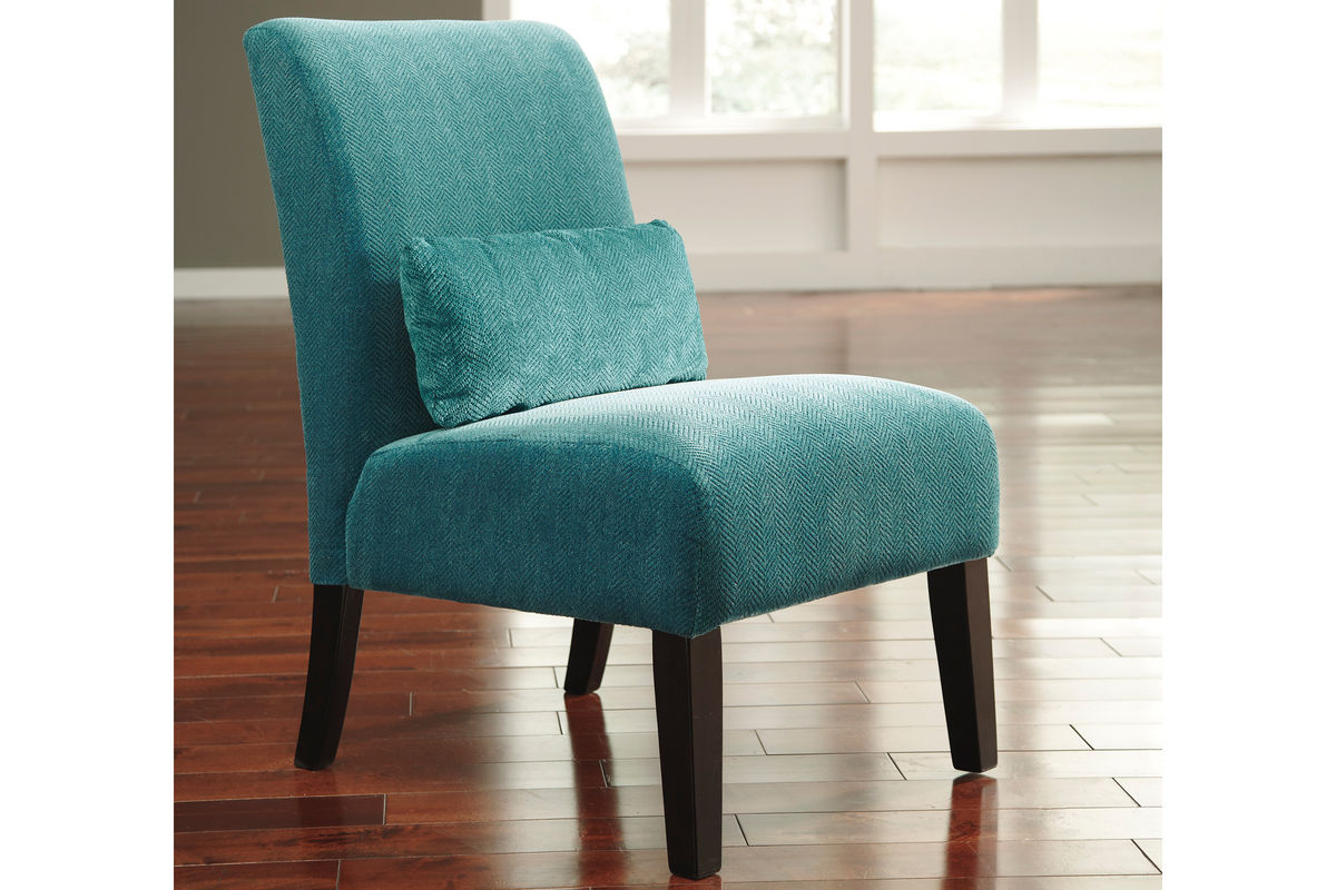Ashley Chairs Annora Teal Accent Chair By Ashley