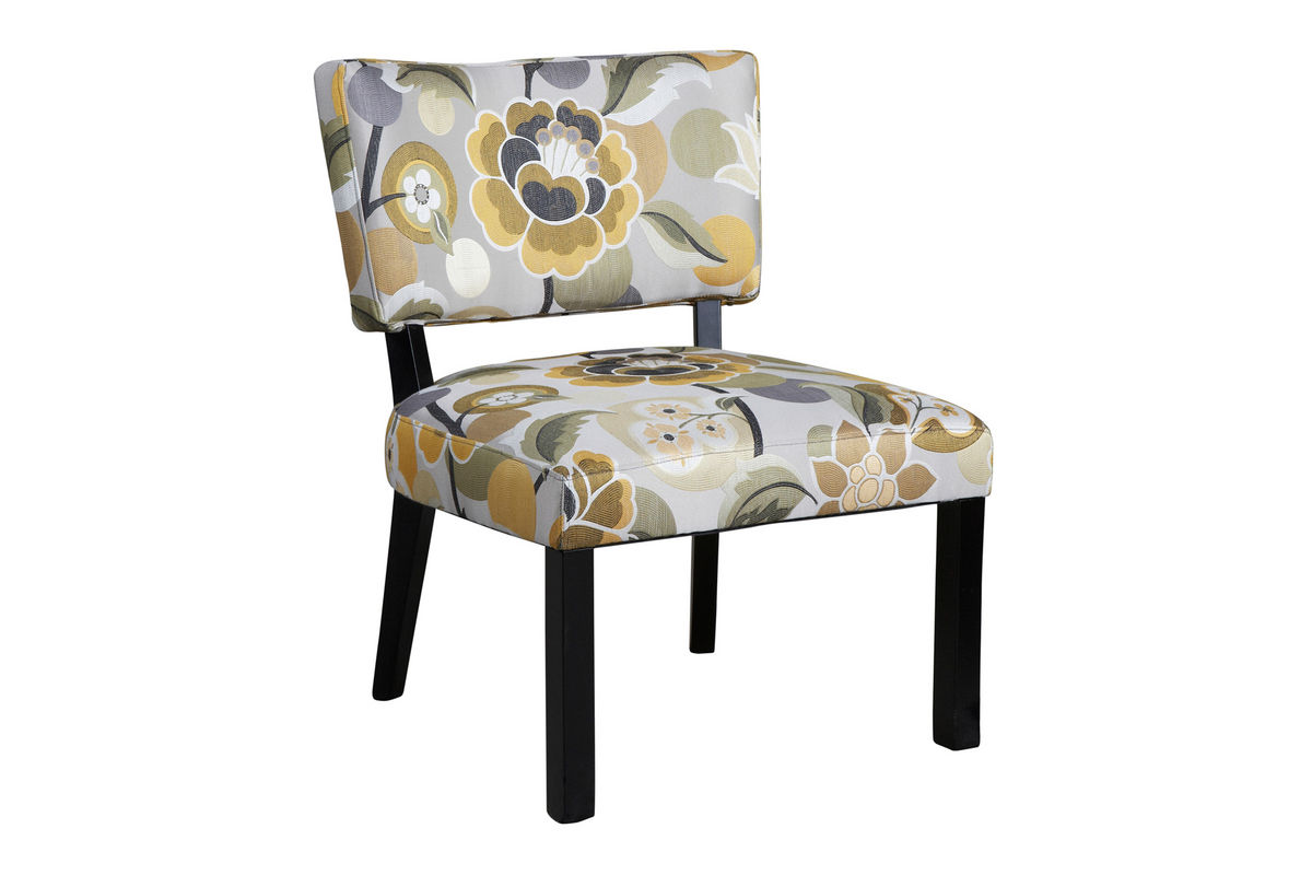 Yellow And Grey Accent Chair Yellow And Gray Floral Accent Chair Powell 383 631 At