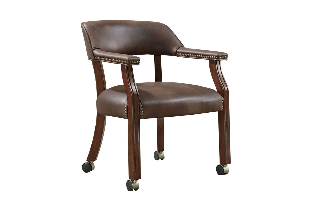 Chair With Casters Traditional Brown Office Chair With Casters 517brn At